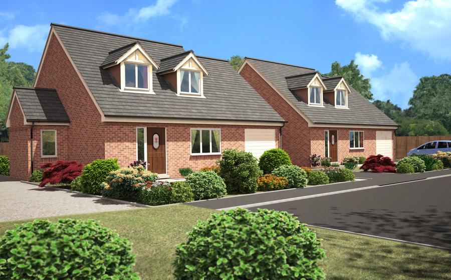 property cgi architectural illustration housing development
