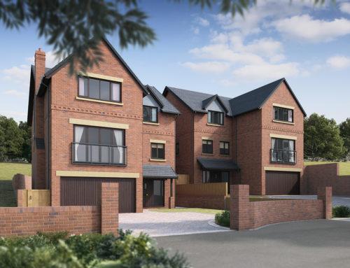 Property CGI for Midlands house builder