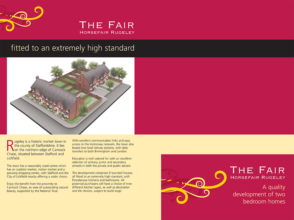 design and print property sales brochure