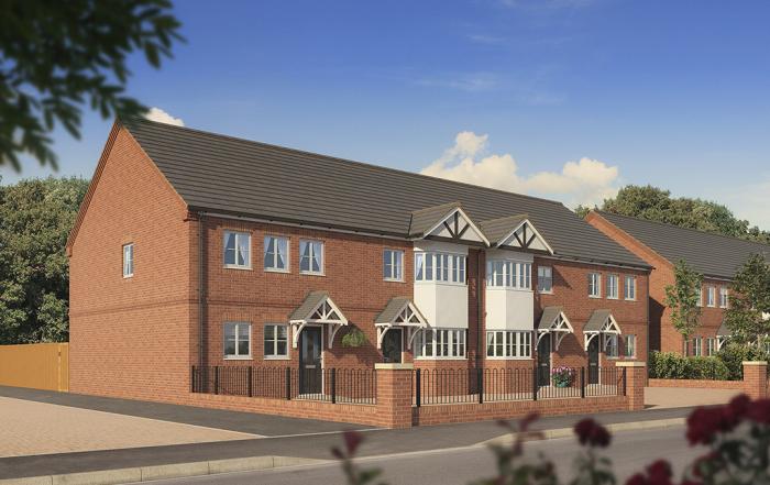 Housing CGI, property cgi, architectural visualisation, architectural illustration, artists impression, housing, property, staffordshire, birmingham, midlands