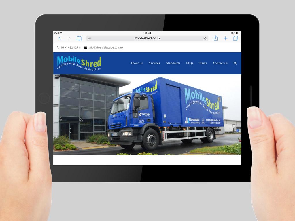 Responsive mobile website for Advertising agency uk