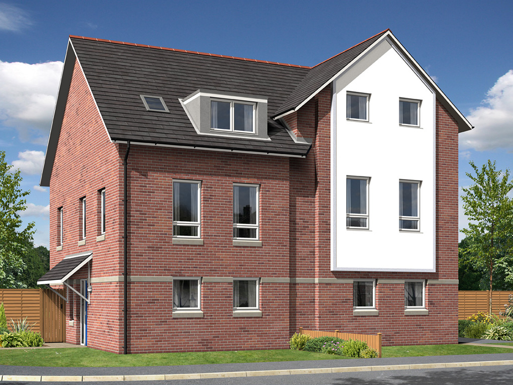 house CGI housing CGI housing development housing association architectural illustration artists impression birmingham midlands lichfield staffordshire
