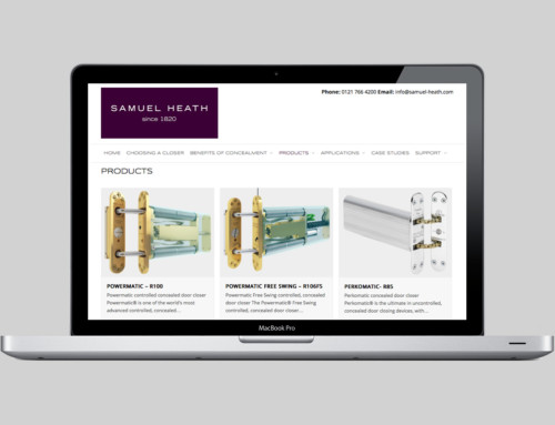 Dedicated responsive product website