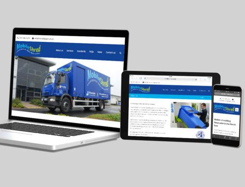 Responsive mobile shredding service website