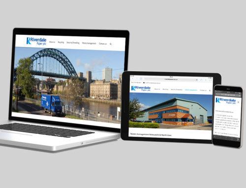 Responsive waste paper services website