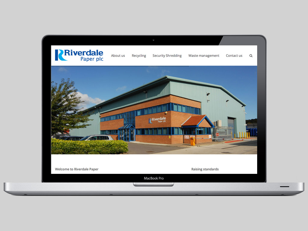 Riverdale responsive website laptop