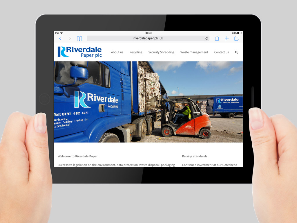 Riverdale responsive website tablet