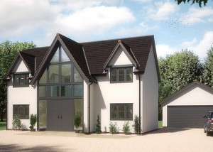 high quality architectural illustration of executive home; artists impressions; property CGI; architectural visualisation